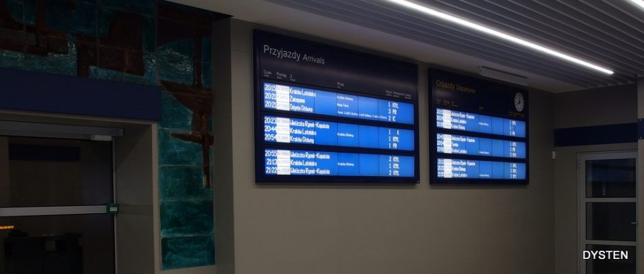 passenger information display for railway