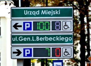 manufacturer of LED parking displays for the city center