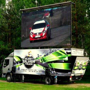 ekran mobilny na ciężarówce eventowy