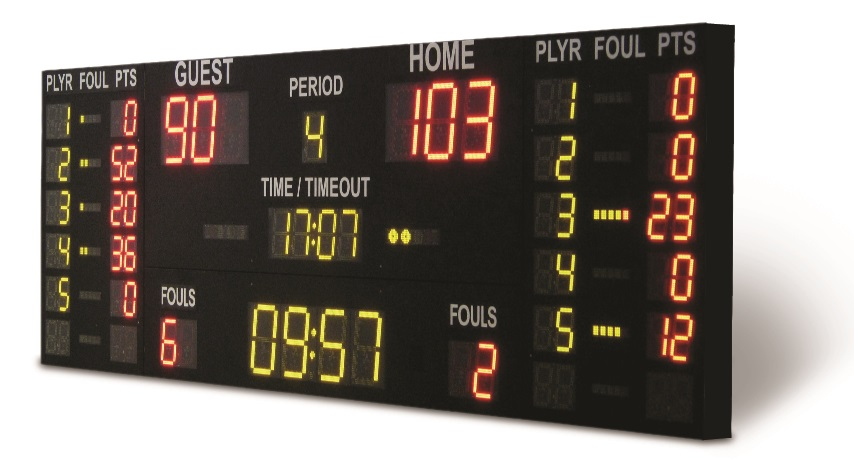 electronic LED scoreboard universal multisport for sport objects