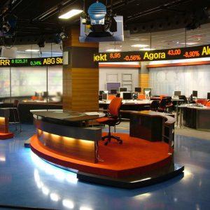 ticker giełdowy, notowania giełdowe LED, kursy walut LED TVN24