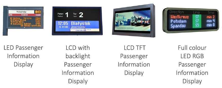 tablice informacji pasażerskiej passenger information display