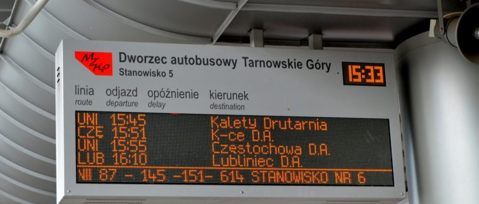 real-time passenger information at the stops