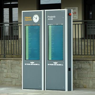tablice informacji pasazerskiej przyjazdy odjazdy