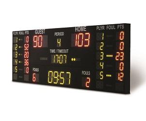 Elektroniczna tablica wyników koszykówka