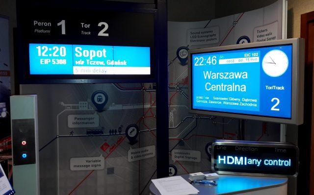 tablice informacji pasażerskiej led, lcd i tft