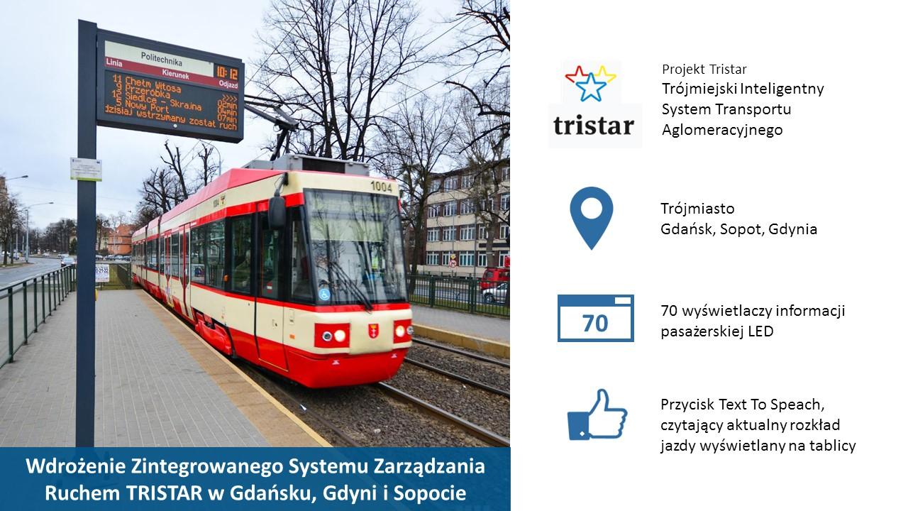 Tablica Informacji pasażerskiej dla miast Gdynia, Gdańsk, Sopot