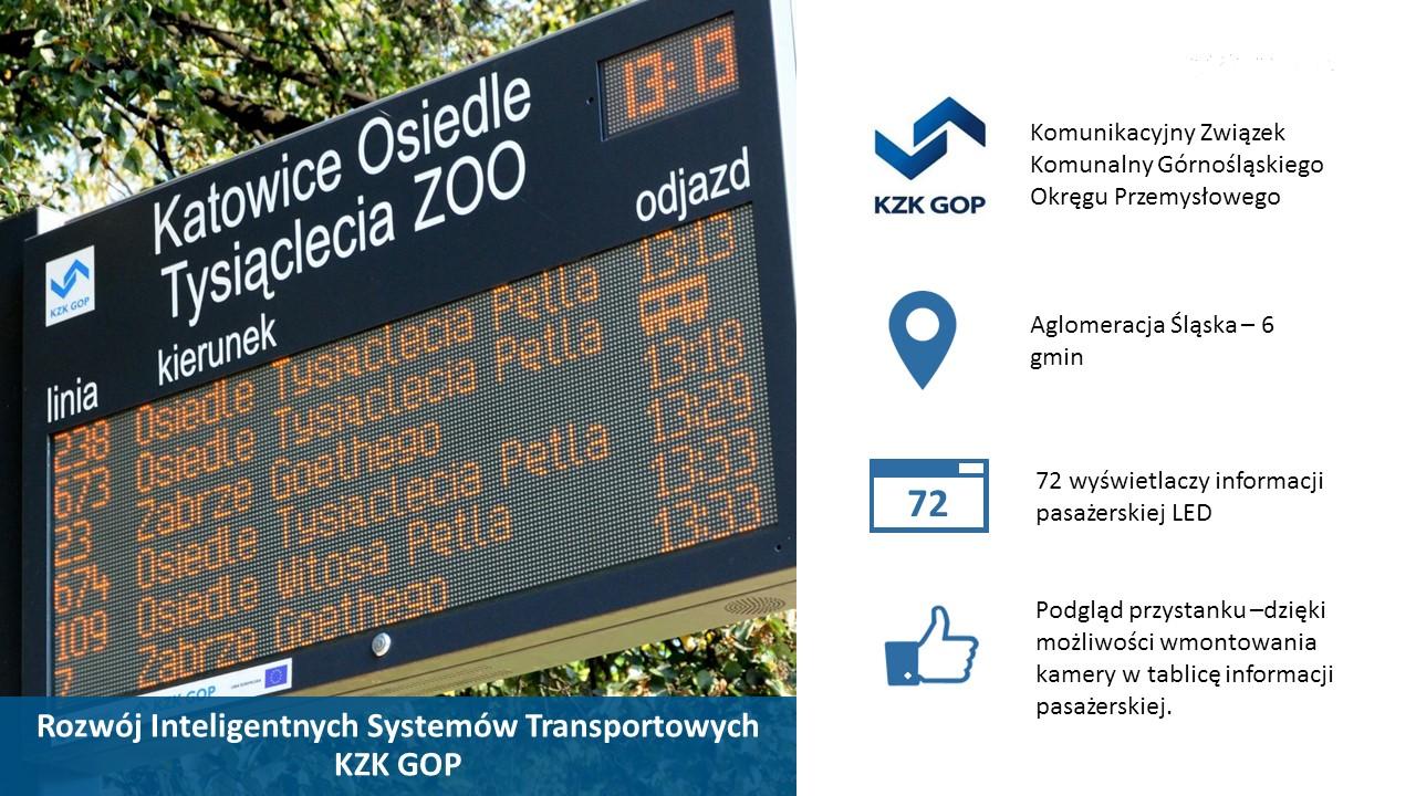 Tablica informacji pasażerskiej KZK GOP