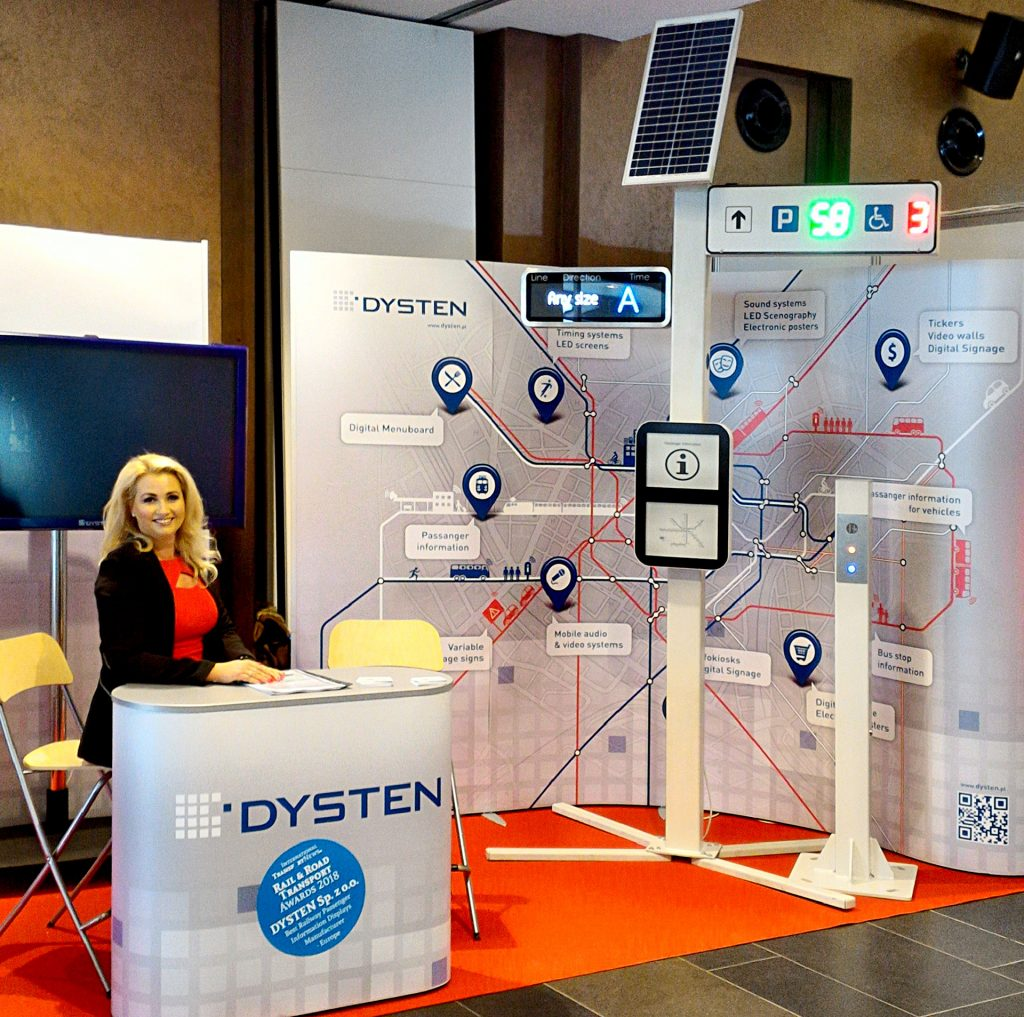 Dysten Ltd during City Trans trade fair in Kiev