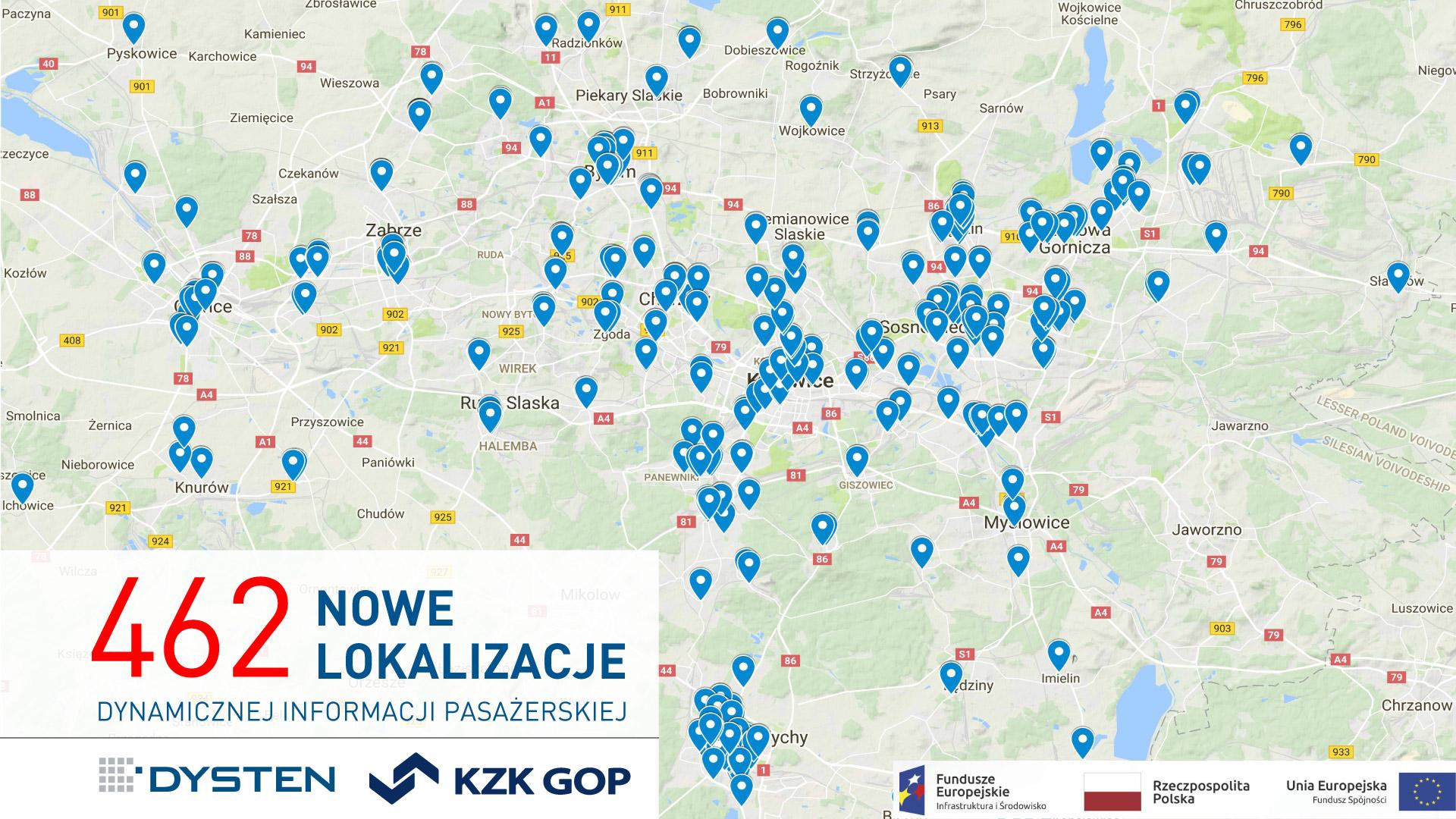462 nowe punkty ITS na terenie województwa śląskiego