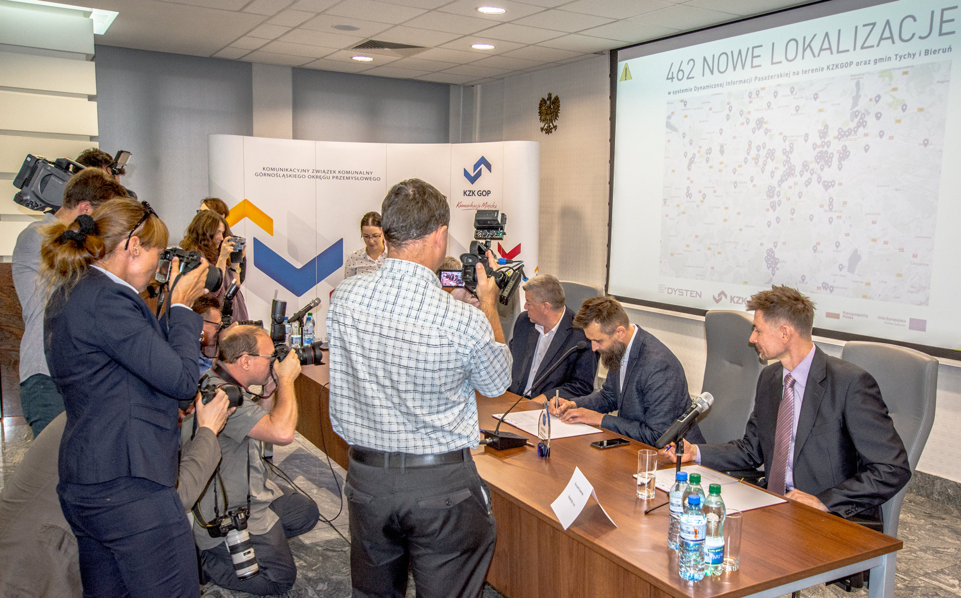 The Conference Press regarding the biggest ITS contract in Poland