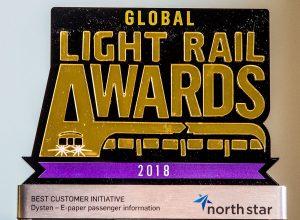E-papier Dystenu nagrodzony światową nagrodą Global Light Rail Award 2018