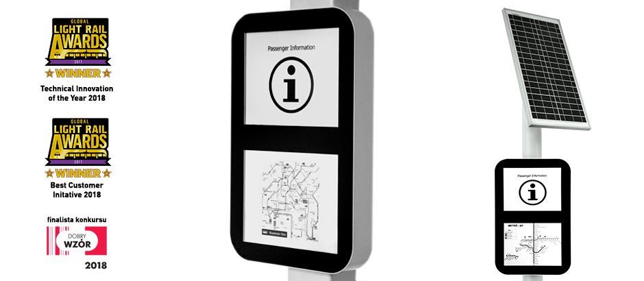 e-paper e-papier epapier informacja pasażerska rozkład jazdy