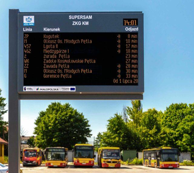 Dysten wybudował nową tablicę dynamicznej informacji pasażerskiej