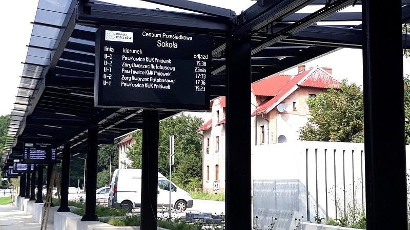 zintegrowane centrum przesiadkowe tablice informacji pasażerskiej