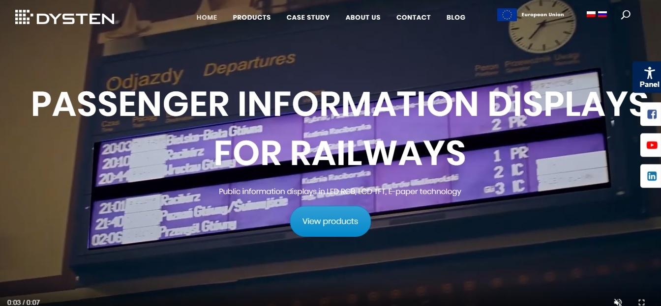 railway displays new dysten website