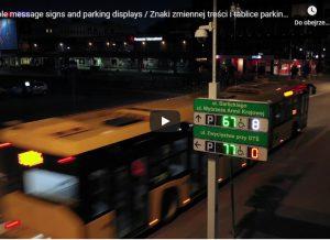 VMS Znaki zmiennej treści Gliwice i wyświetacze parkingowe
