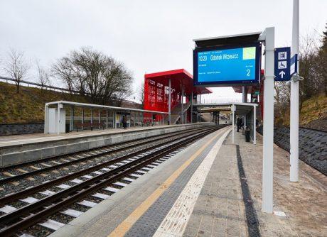 wyświetlacz peronowy informacja pasażerska na peronie pkm