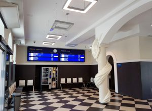 LED display departures arrivals wyświetlacz odjazdy przyjazdy LED