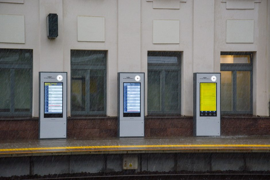 Totem passenger information displays WOP stacja Radom 3