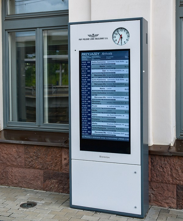 passenger information infokiosk totem