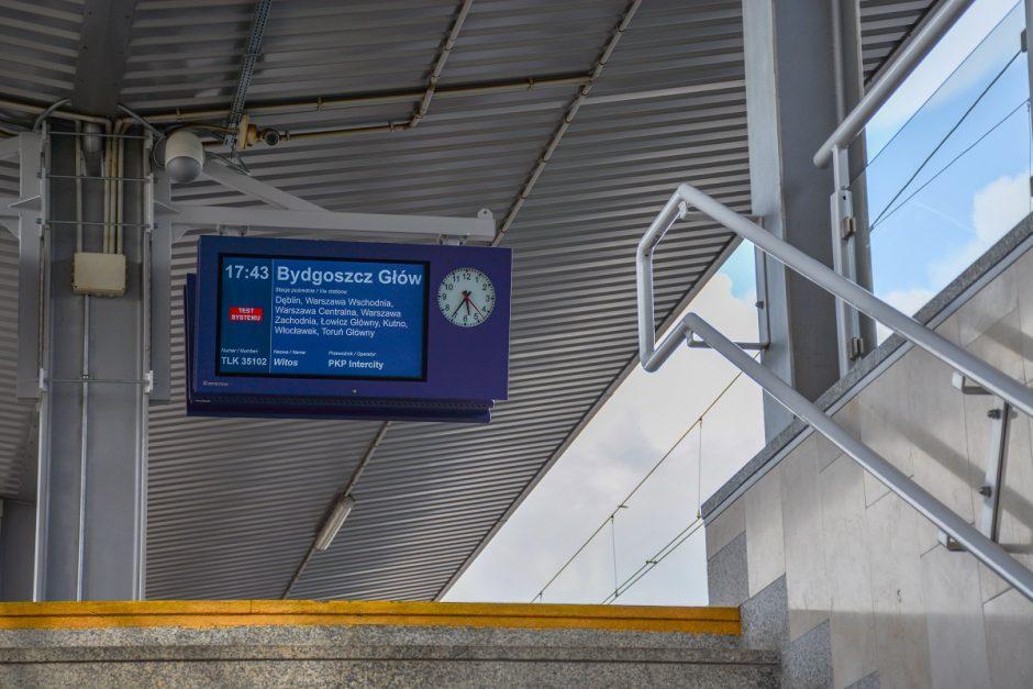 train platform screen