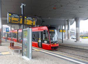 System Dynamicznej informacji Pasażerskiej w Katowicach Zawodziu, info kioski i biletomaty